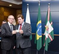 Entrega de credenciais - Curitiba 25 de agosto